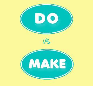 В чем разница между словами do и make